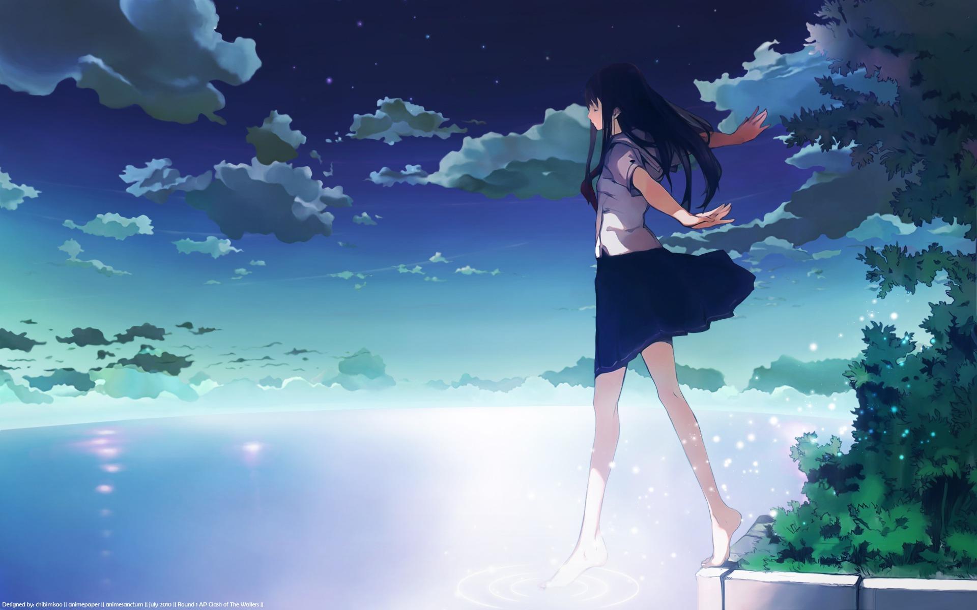 Anime-School-Girl-Wallpaper | Chrome Geek