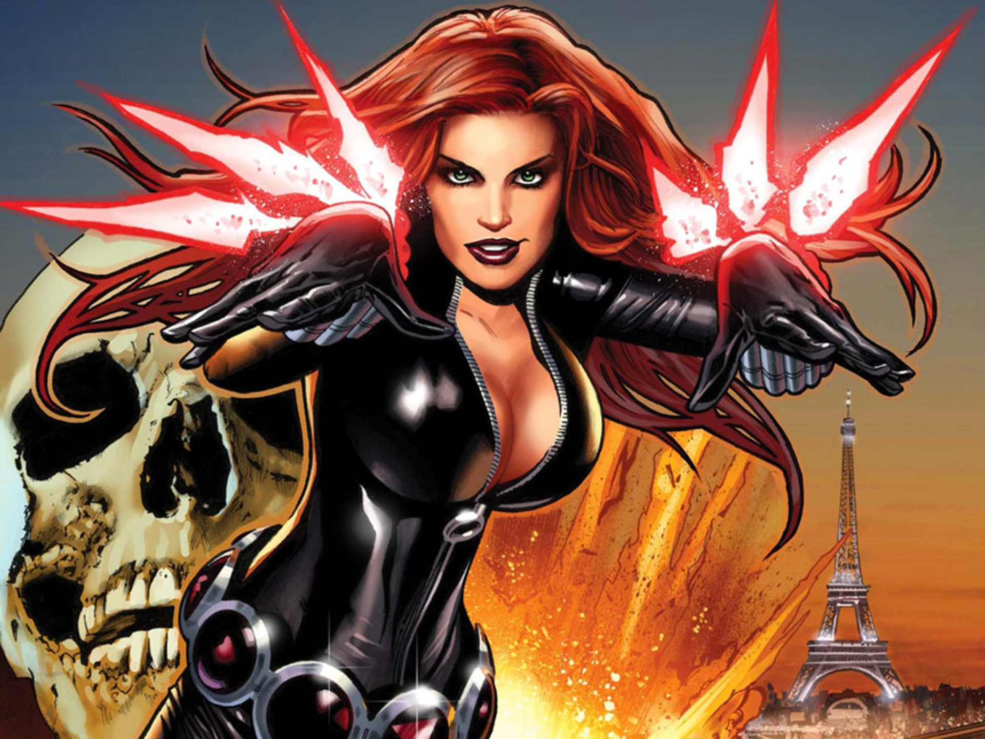 Black-Widow-Cartoon-Wallpaper • Chrome Geek