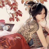Cartoon-Chinese-Girl-with-Tats