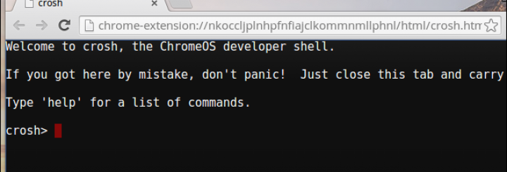 Command Prompt On Chrome OS