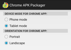 Download APK Packager on Chromebook