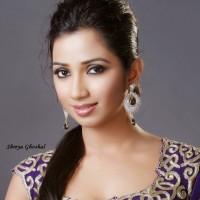 Shreya-Ghoshalin-Purple-Sari