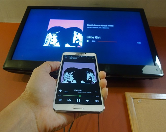 Beam music using Google Play Music to your TV