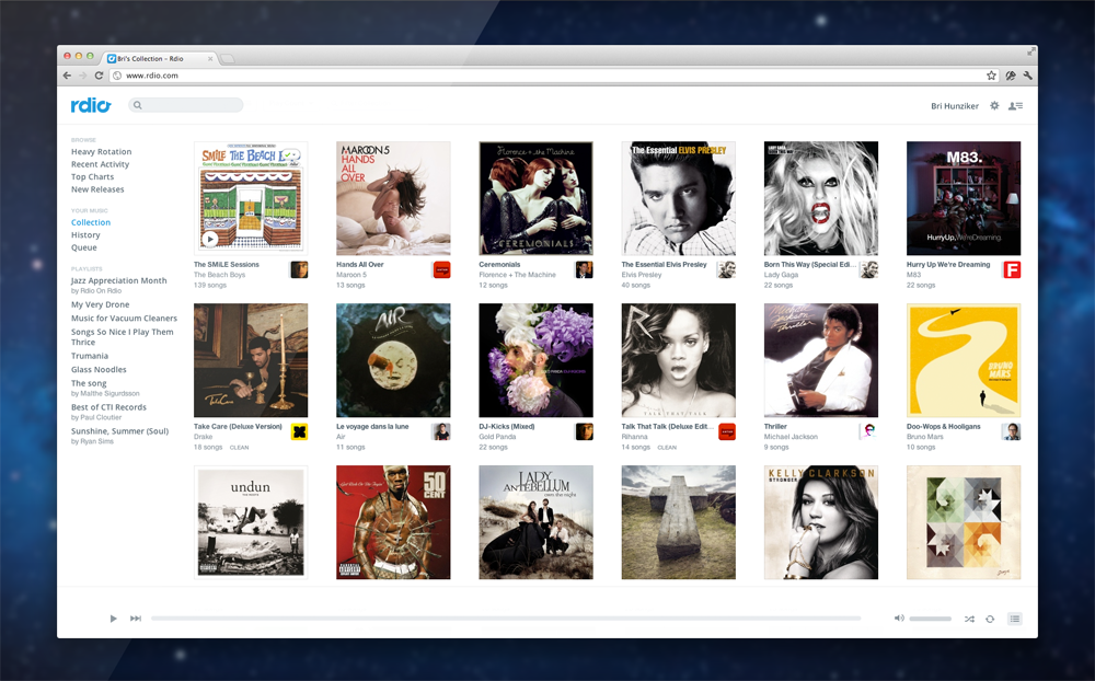 Use Rdio App on Chromebook