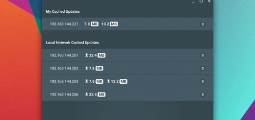 Chrome OS P2P Update App Screenshot