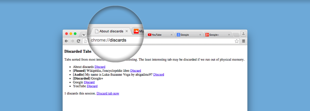 Discard Tabs Screenshot