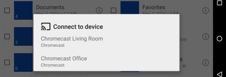 OneDrive now works on ChromeCast