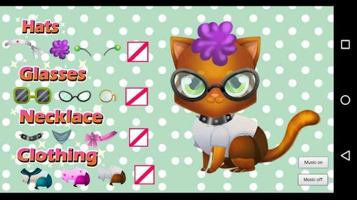 Kitty Cat Pet Dress Up Baby Game