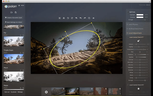polarr editor de imagens