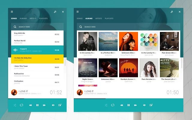 Download Salmon Player For Chrome - Beautiful Material Design Chrome