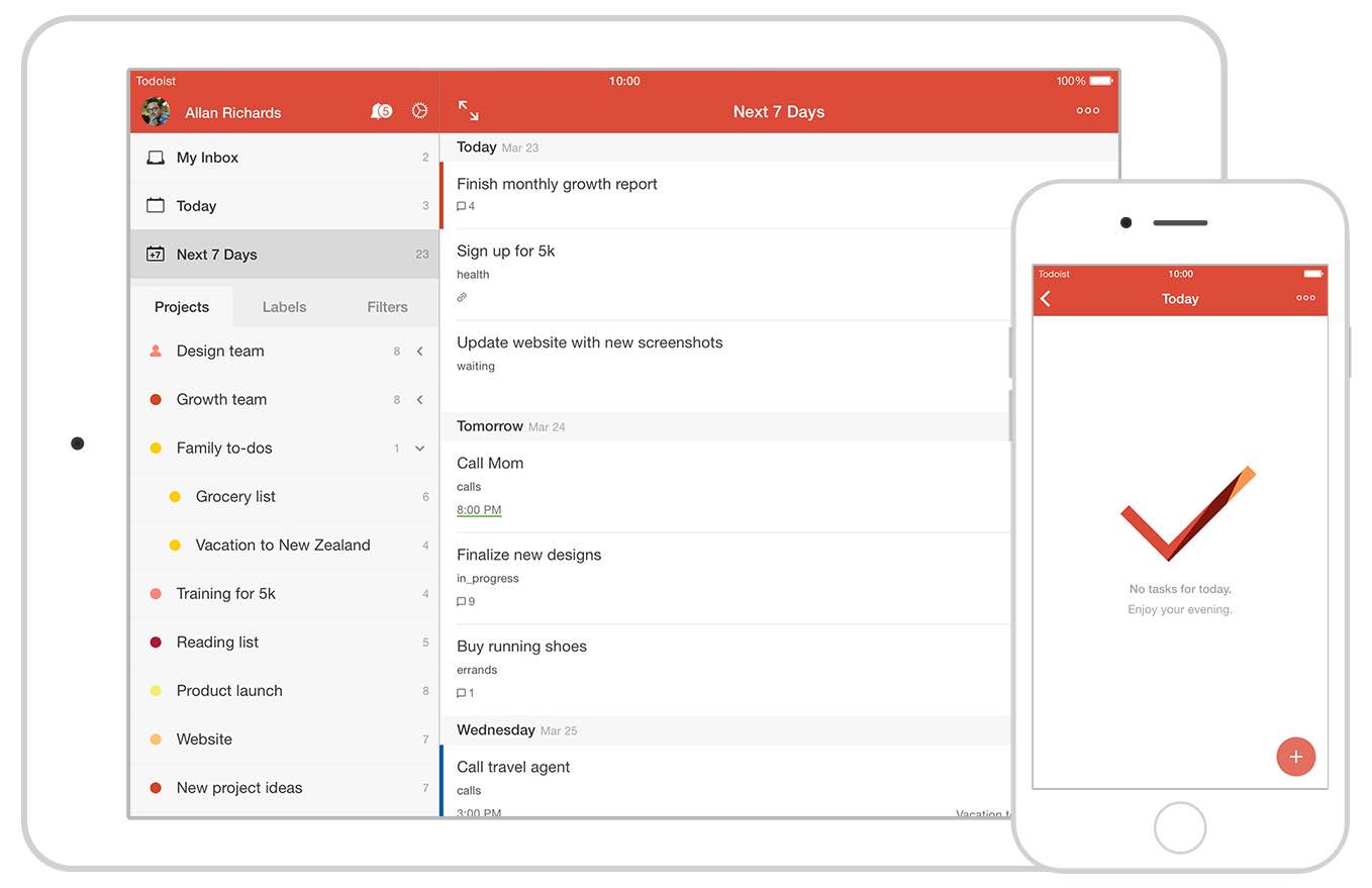 Download todoist app best to do list task manager on for Todoist project templates
