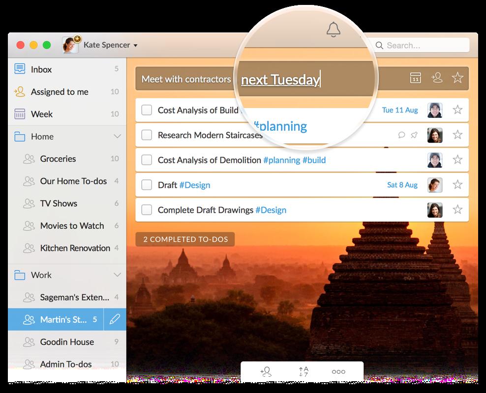 Wunderlist App Contacts Chrome Geek