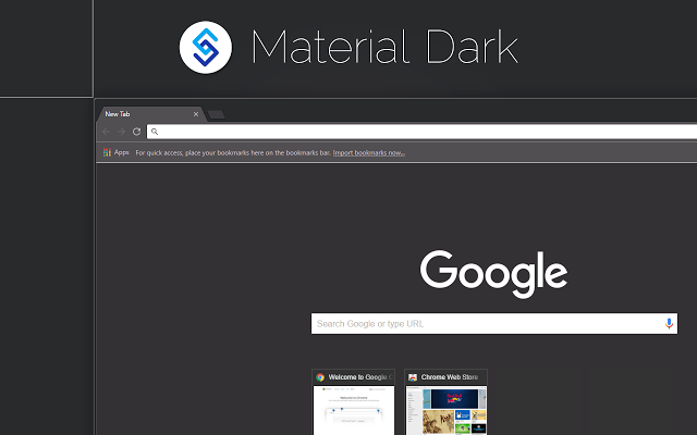 Download Material Dark Theme For Chrome