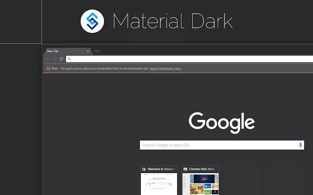 Material Dark Theme For Chrome