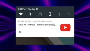 YouTube bakground play on Android