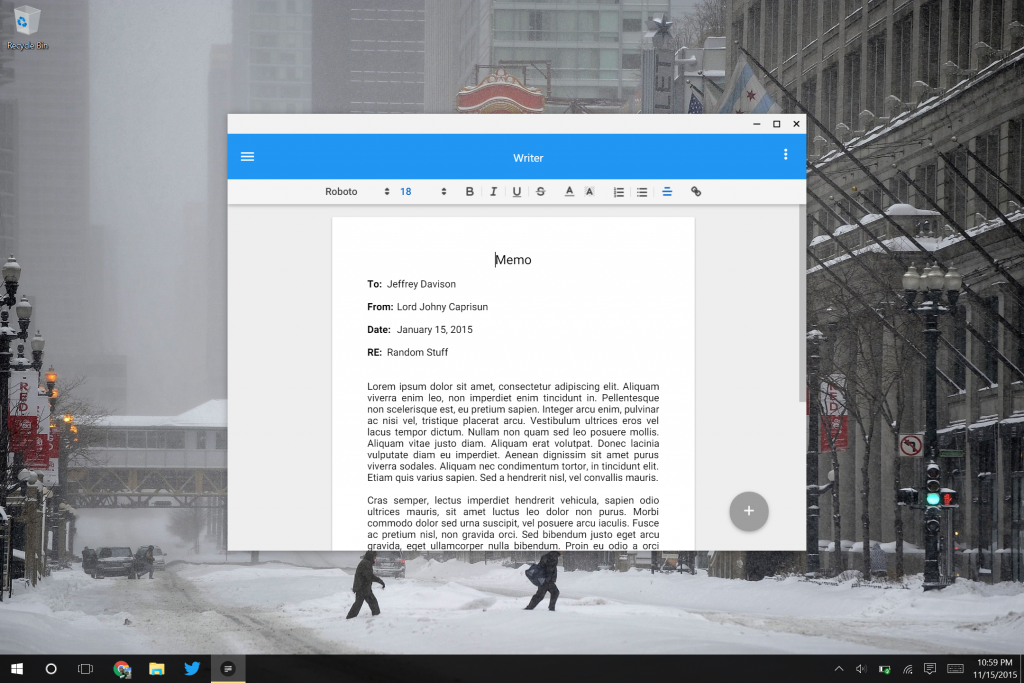 Writer App For Chrome