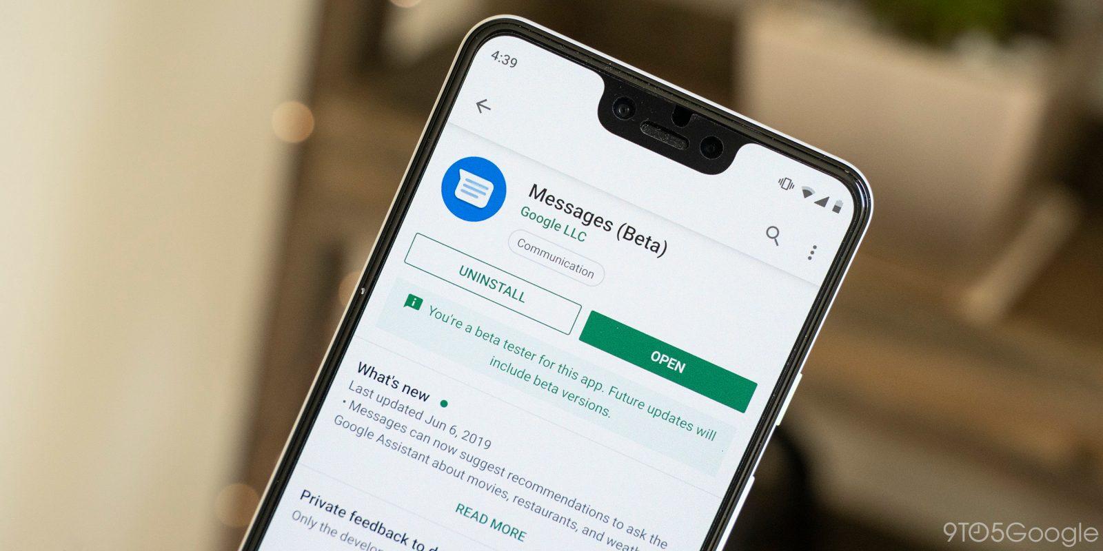 PSA: Google Messages Beta v4 7 crashes immediately on startup