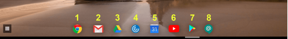 Chromebook Taskbar Icons