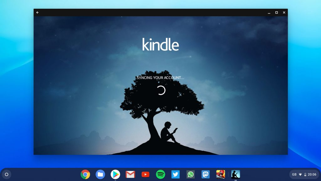 Amazon Kindle on Chromebook screenshot
