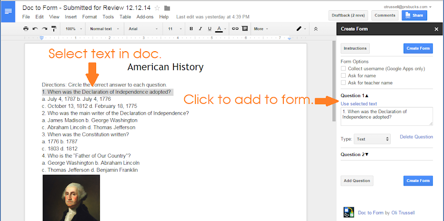 example of doc to form